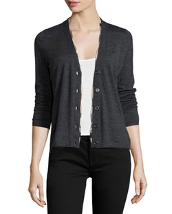 Burberry Brit  - Twisted-Front Merino Cardigan