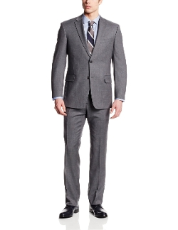 Tommy Hilfiger - Gray-Check Two-Button Side-Vent Suit