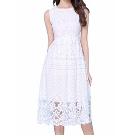 Vellsar - Sleeveless Lace Fit Dress