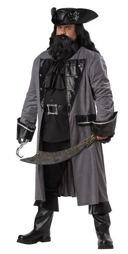 California Costumes - Blackbeard The Pirate Coat Costume