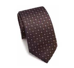 Eton of Sweden  - Circle Pattern Silk Tie
