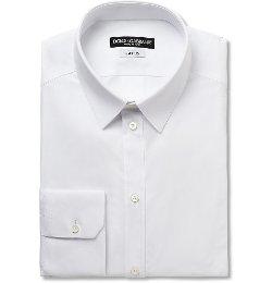 Dolce & Gabbana   - Gold-Fit Cotton-Blend Shirt