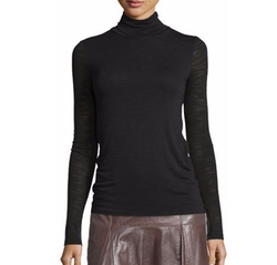Halston  Heritage - Long-Sleeve Slim Turtleneck Tee