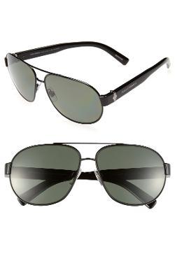 Dolce&Gabbana  - 61mm Polarized Aviator Sunglasses