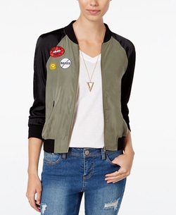 Material Girl - Patched Bomber Jacket
