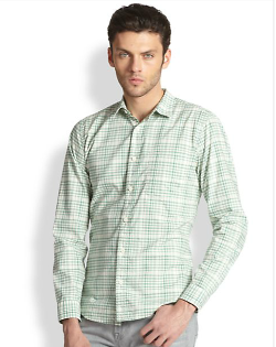 7 For All Mankind  - Pinpoint Plaid Sportshirt