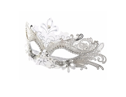 Coxeer  - Laser Cut Metal Lady Masquerade Mask