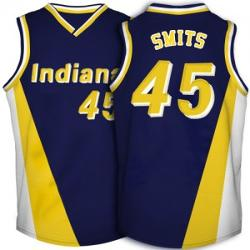 Clutchtime Sports - Rik Smits Indiana Pacers Jersey Blue Retro Throwback