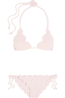 Marysia - Broadway And Mott Scalloped Triangle Bikini