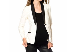 A Pea in the Pod  - Maternity Single-Button Colorblocked Blazer