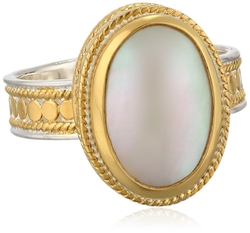 Anna Beck Designs - Gold Plated Large Oval Cocktail Ring