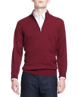 Brunello Cucinelli - 2-Ply Cashmere Half-Zip Pullover
