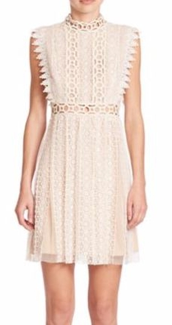 Free People  - Lace Cutout Halter Dress