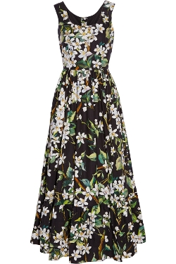 Dolce & Gabbana - Floral-Print Cotton-Poplin Maxi Dress