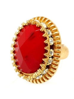 Stephene - Stone And Crystal Statement Ring