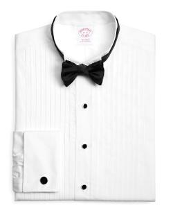 BROOK BROTHERS - Traditional Fit Ten-Pleat Wing Collar Tuxedo Shirt