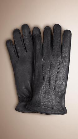 Burberry - Fur Lined Deerskin Gloves