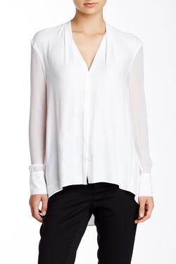 Helmut Lang - Long Silk Sleeve Blouse