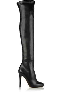 Jimmy Choo - Turner Stretch-Leather Thigh Boots