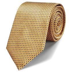 Charles Tyrwhitt - Classic Gold Lattice Tie