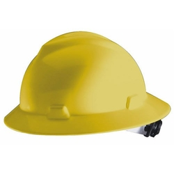 MSA Safety Works - Full Brim Hard Hat, Yellow