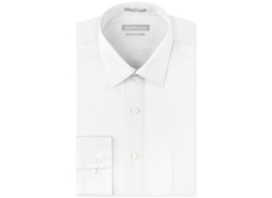 Van Heusen - Fitted Pique Solid Dress Shirt