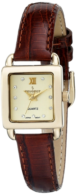 Peugeot - Analog Display Japanese Quartz Brown Watch