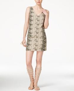 Rachel Rachel Roy - Snakeskin-Print Sheath Dress