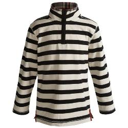 Hatley - Zip Mock Neck Shirt - Cotton, Long Sleeve