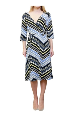 2Luv - V-Neck Printed Wrap Dress