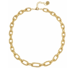 Louise et Cie Jewelry - Textured Oval Link Necklace