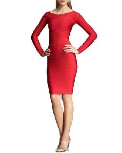 Herve Leger - Long-Sleeve Bandage Dress