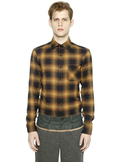 Kolor - Plaid Cotton Flannel Shirt