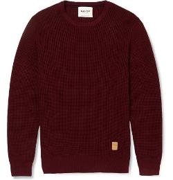 NN.07   - Muri Waffle-Knit Cotton Sweater