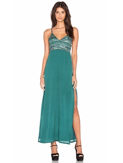 Tularosa - Lena Plunge Maxi Dress