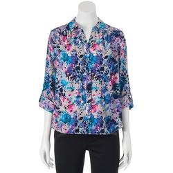 Dana Buchman  - Roll-Tab Shirt