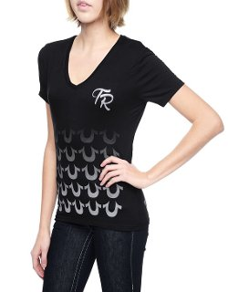 True Religion - Fading Horseshoes Womens T-shirt