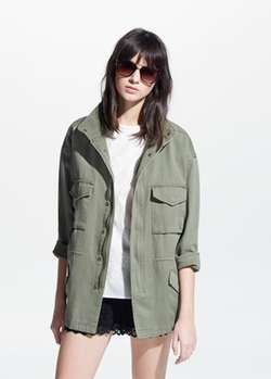 Mango - Military-Style Jacket
