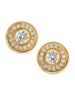 Roberto Coin  - Yellow Gold Diamond Stud Earrings