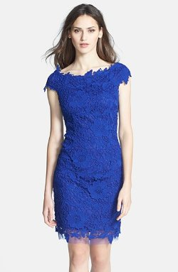 Betsy & Adam -  Lace Sheath Dress