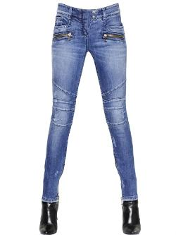 Balmain  - Stretch Cotton Denim Jeans