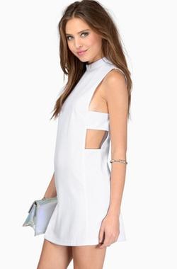 Romwe - Sleeveless Cut Out Dress