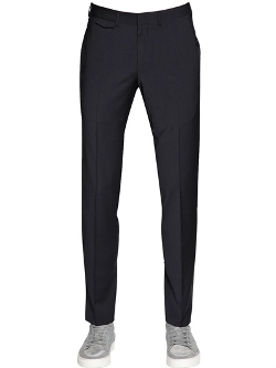 Z Zegna - Stretch Wool Blend Gabardine Pants