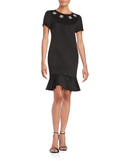 Carmen Carmen Marc Valvo - Embellished Sheath Dress