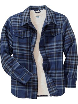 Old Navy - Faux Shearling Lined Flannel Shirt