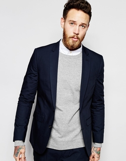 Asos  - Slim Suit Jacket In Poplin