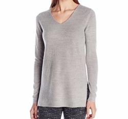 Knits by Hampshire  - V-Neck Shaker-Stitch Sweater