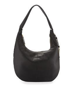 Halston   - Leather Slouch Hobo Bag