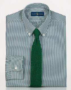 Ralph Lauren - Custom Striped Poplin Dress Shirt