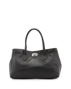Furla - Appa Pebbled Turn-Lock Tote Bag